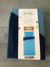 George Home (Asda) Blue & Navy SINGLE Duvet Set - Brand New