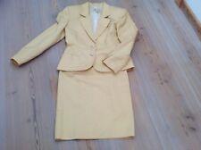Gucci originale tailleur vestito giallo giacca gonna cotone operato 42 Natale