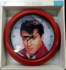 """YOUNG ELVIS 9.25"""" WALL CLOCK - NEW"""