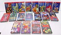 LOT of 19 Anime VHS Tapes 1990's Manga Cartoons Japanese Animated FACTORY SEALED