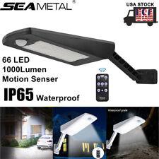 66 LED Solar Power Motion Sensor Light Outdoor Waterproof Yard Garden Wall Lamp