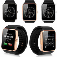 Man Bluetooth Wrist Smart Watch Phone For Samsung Galaxy S8 S7 S6 S5 Note 5 4 3