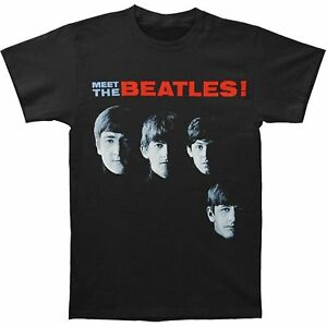 The Beatles Meet the Beatles Official Pre-Owned Size Medium Black Shirt