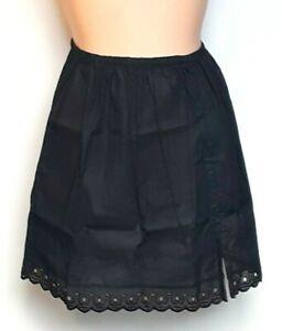 Ladies White Black Pure 100% Cotton Waist slips Half Slip Petticoats Underskirts