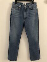 NWOT AGOLDE Pinch Waist High Rise Kick Jeans Sz 29 Color: Queue