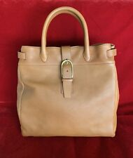 Sergio Rossi Large Brown Leather Tote With Buckle