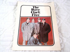 THE DAVE CLARK FIVE 1965 TOUR PROGRAM BOOK VINTAGE 60'S BRITISH INVASION ROCK