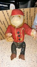 Rare Antique 1900's Bellboy Schuco Monkey Straw Stuffed Felt Mohair 12� Awesome