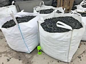 TONNE bag Black Safety Surfacing Rubber Garden Play Area Bark Chippings Mulch