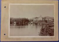 Vintage Old 1910's Cabinet Photo of Huge Home or Resort & Lake in California