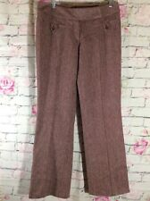 TwentyOne Tweed Wool Trousers Pants Slacks~Burgundy/Wine/Maroon~Fully Lined~Sz M