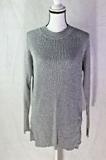 TOPSHOP SIZE 2 (US) GRAY IVORY KNIT COMBO TUNIC SWEATER NORDSTROM