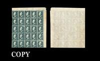 Sicily, 1859 Ferdinand II 20g slate gray, Palermo Pane of 25, Copy