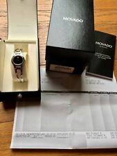 Movado Women's Amorosa Watch 24 mm Stainless Steel Black Museum Classic Ladies