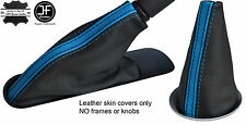 BLACK BLUE STRIPE TOP GRAIN LEATHER BOOT SET  FOR BMW MINI COOPER R55 R56 R57