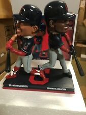 Francisco Lindor Edwin Encarnacion Indians Double Bobblehead Bobble NEW 252 only