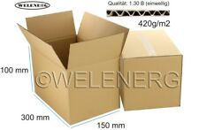 100x 300x150x100 mm Kartons Faltkartons Faltschachteln Versandkarton Postkarton
