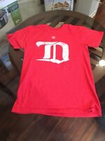 Old Time Hockey Detroit Red Wings Vintage Style Logo T-Shirt Excellent Con Small