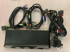 Belkin SOHO KVM (F1DS104J) 4-Ports External KVM / Audio Switch PS/2