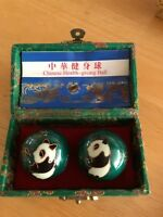 New Chinese Baoding Health Balls Exercise Stress Relaxation Therapy Panda Design