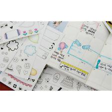 6pcs Karikatur Tagebuch Sticker Aufkleber Deko Kawaii Scrapbooking Stickerbogen