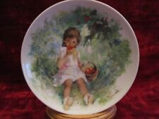 Marie-Ange collector plate Paul Durand Limoges Children France apple tree