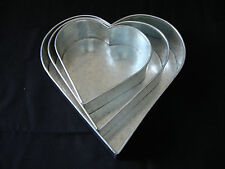 "Heart Cake Baking Tins -  3 Tier - 3"" Deep  ( 8 10 12 "" ) - Clearance !!"