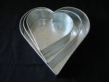 "Heart Cake Baking Tins -  3 Tier - 3"" Deep  ( 8 10 12 "" ) - Clearance !!"