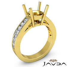 Natural Diamond Engagament Javda Ring 18k Yellow Gold 0.5Ct Round Semi Mount F