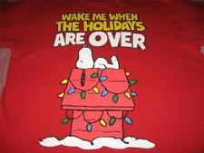 Snoopy Christmas Holiday Adult Medium T Shirt