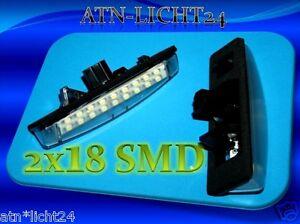 Pour Lexus Il GS LS RX DEL plaque d/'immatriculation éclairage lampes 2x 18smd