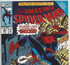 The Amazing Spider-Man #364 vs. The Shocker from July 1992 in Fine+ condition DM