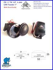 "Altoparlanti Speakers PHD Kit CAR Tweeter Neodimio cupola in seta 25mm 1"""