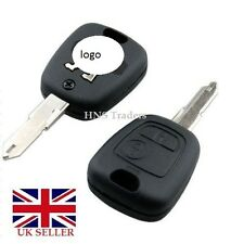 NEW 2 BUTTON REMOTE KEY FOB CASE FOR PEUGEOT 106 107 206 207  307 &/ LOGO
