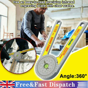 Angle Finder Miter Saw Protractor Measuring Ruler Tool Goniometer Pro Durable UK