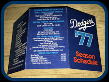 1977 LOS ANGELES DODGERS OFFICIAL MINI BASEBALL POCKET SCHEDULE FREE SHIPPING