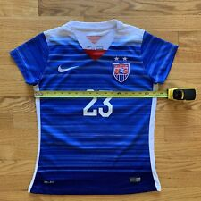 Nike USA US Womens Soccer USWNT 2015 World Cup Away Jersey Christen Press #23 WM