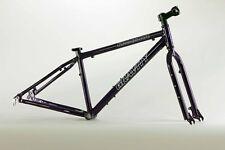 Gravity Knockout Aluminum Fat Bike Frame Fork Set Project! Purple Grape, 14 inch