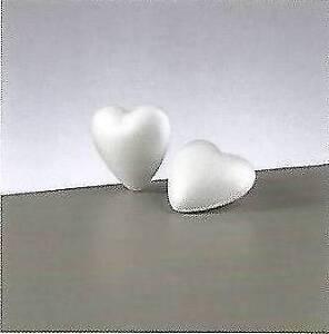 2  Herzen Styropor voll 9 cm