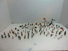 Ho Scale Layout Lot Men, Women, Children, 7 Dogs, Cats, Figures-All Hand Painted