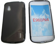 Pattern Gel Soft Case Protector Cover Pouch For LG Google Nexus 4 E960 N4 Black