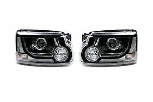 Valeo Land Rover Discovery MK3 Headlight Set 09-13 LED DRL Headlamps Pair