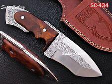 100% Custom Handmade D2 Steel engraved bolster blade and Rosewood handle