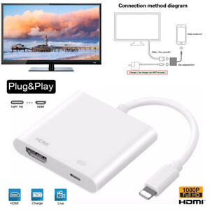 IOS To HDMI Adapter Cable Digital AV TV Adapter For Apple iPhone 6 7 8 X 11 Ipad