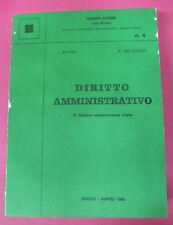 book LIBRO L.Delpino F.Del Giudice DIRITTO AMMINISTRATIVO 1984 SIMONE (L40)