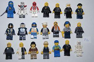 Genuine Lego - 21 Minifigure / Minifigs - NINJAGO, POLICE, AGENTS, +++ (P54)