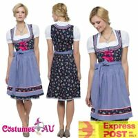 Deluxe Ladies Beer Maid Costume Wench German Bavarian Oktoberfest Fancy Dress