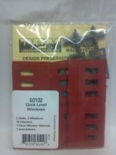 DPM Modular Dock Wall 6 windows N scale Building Package of 3 #60102 Model Train