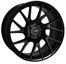 18x8 Enkei Rims TM7 5x100 +45 Black Rims Fits Jetta Matrix Corolla Frs