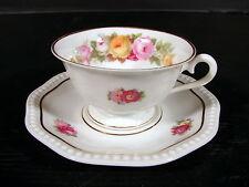 Tasse & sous-tasse porcelaine Allemande Rosenthal Bavaria decor fleurs